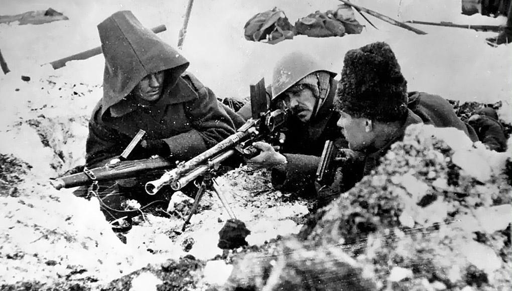 Румынские солдаты под Сталинградом.