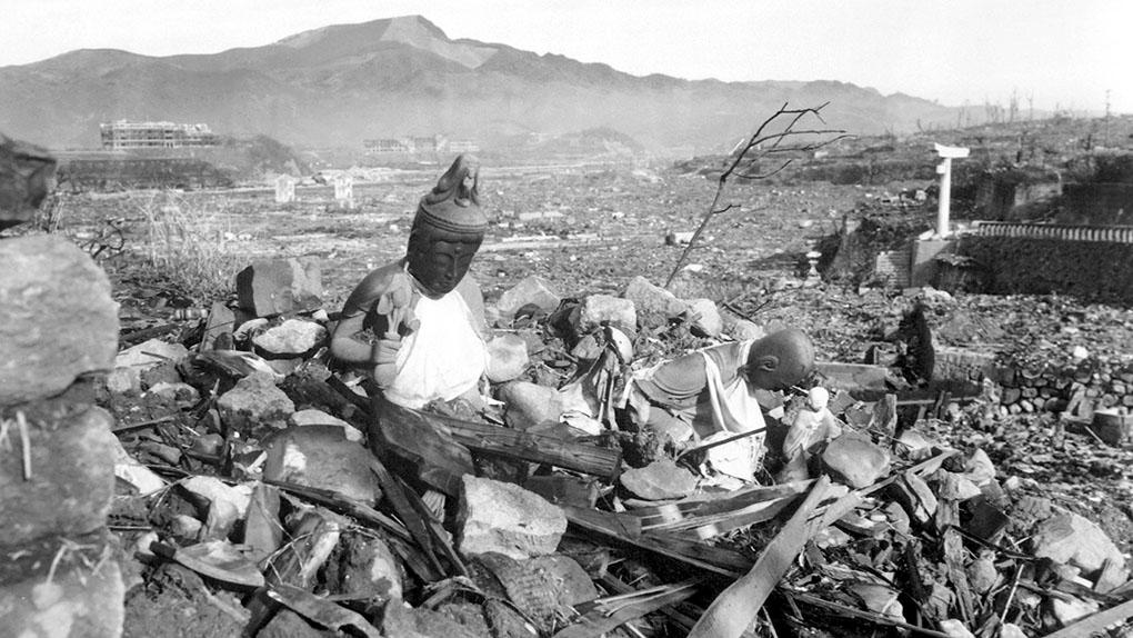 Нагасаки после бомбардировки.