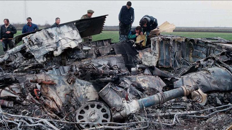 Сбитый ракетой сербских ПВО F-117A Nighthawk.