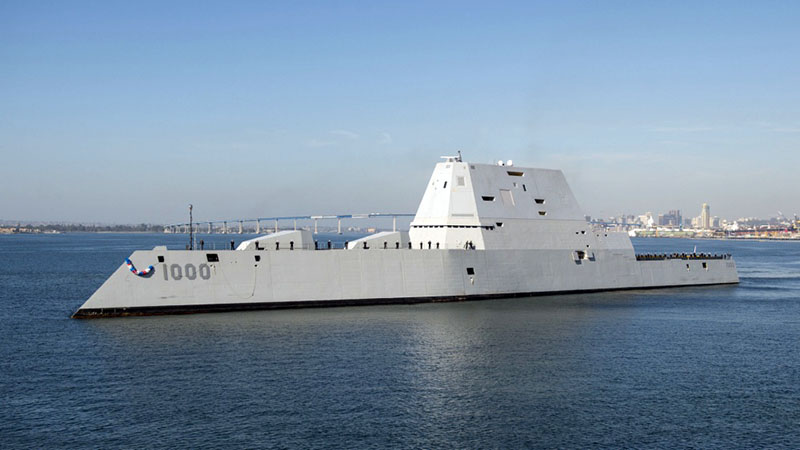 Эсминец Zumwalt (USS DDG-1000).