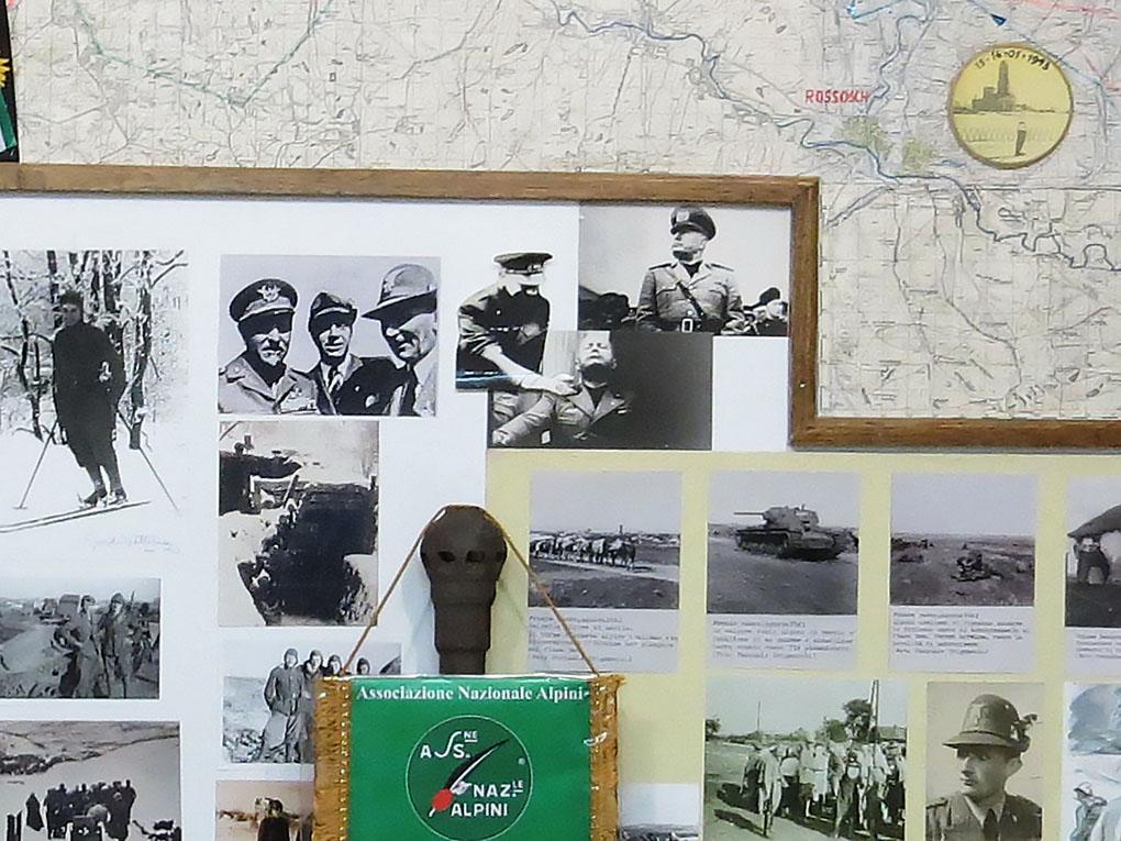 В музейной экспозиции есть и фотографии фашистского дуче Муссолини.