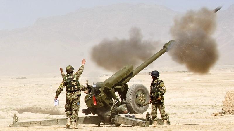 Тренировки афганской армии.