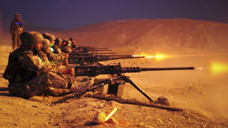 Ночные стрельбы.