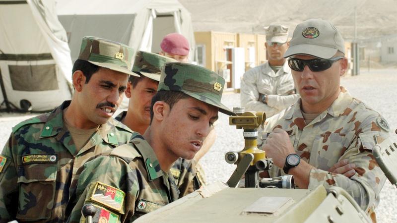 Американские советники в Афганистане.