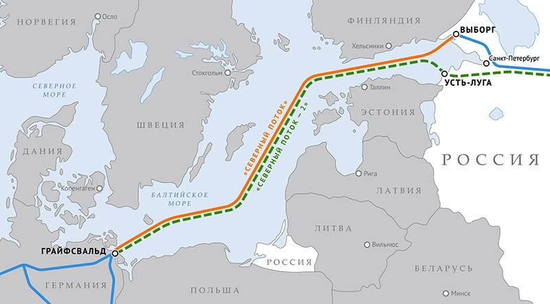 Карта «Северного потока-2.