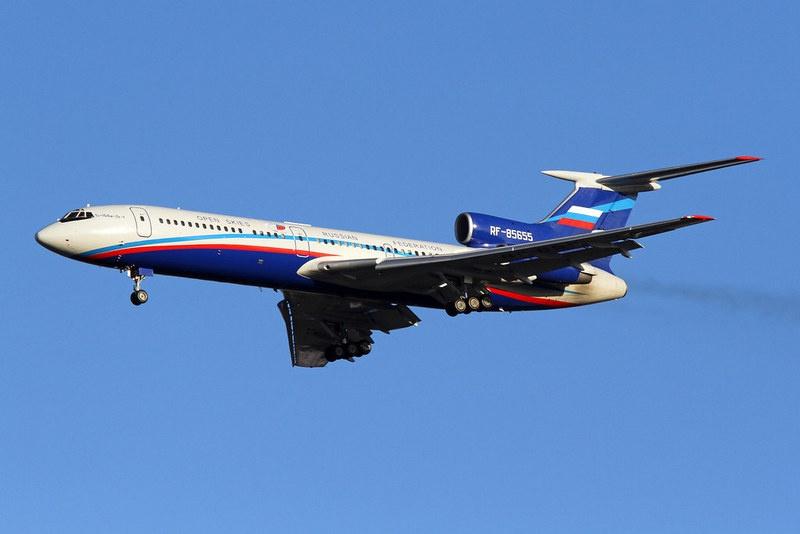 Русский самолёт наблюдения Ту-154М Лк-1.
