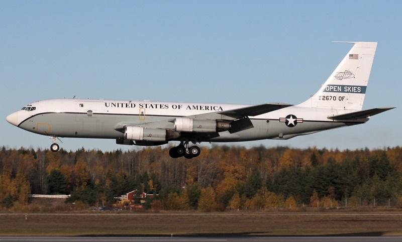 В 2016 году экипаж OC-135B вынужденно прервал выполнение ранее запланированных полётов над Россией.