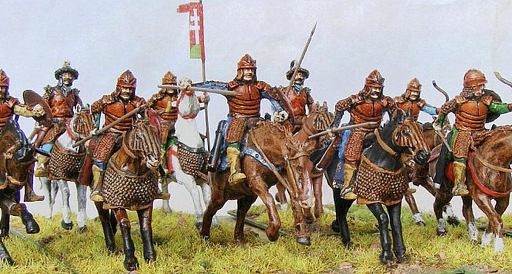 Тяжеловооружённые всадники-половцы.
