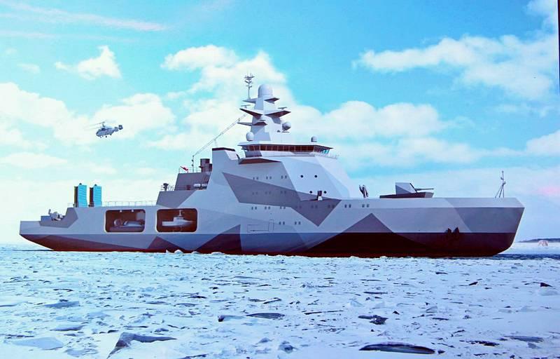 Корабли 1 ранга проекта 23550 наделены функциями сторожевого корабля, ледокола и буксира.