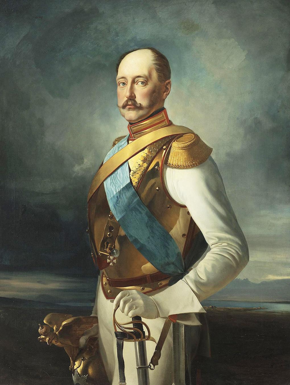 Николай Первый в военном мундире.