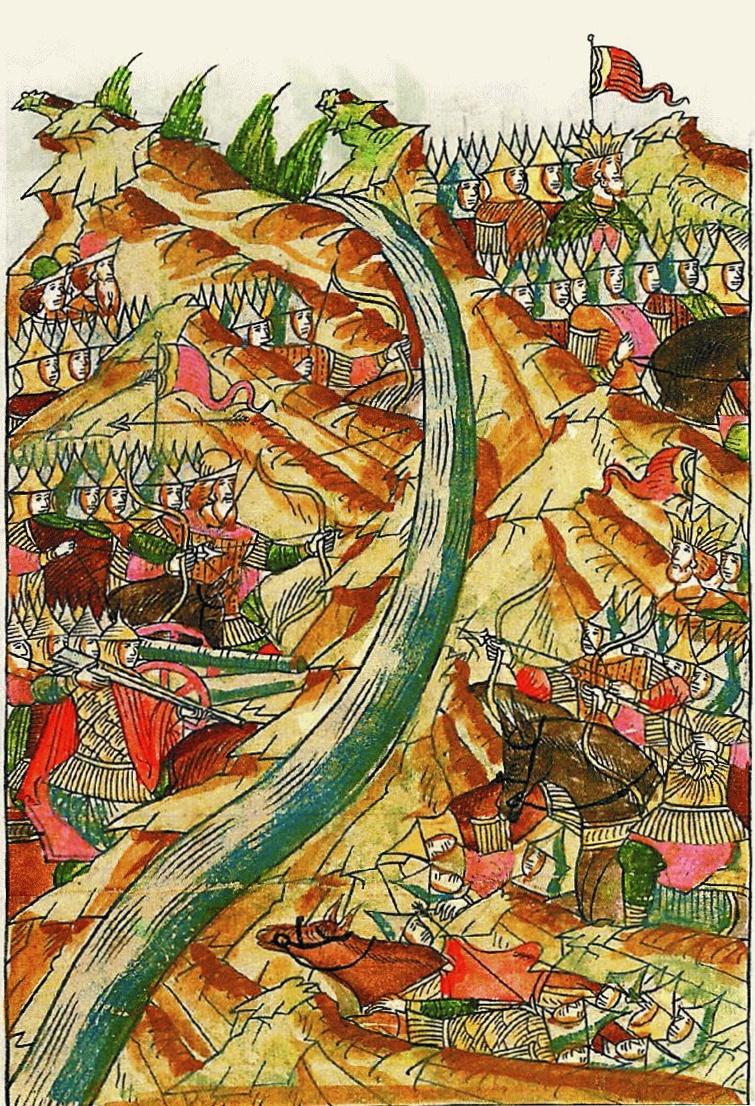 МиниатюраЛицевого летописного свода. XVI век