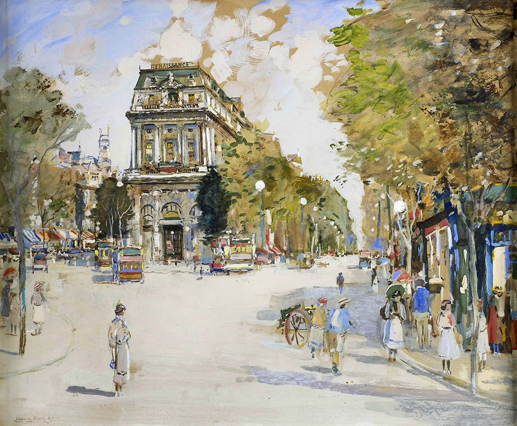 Театр-Порт-Сен-Мартен на картине Кея.
