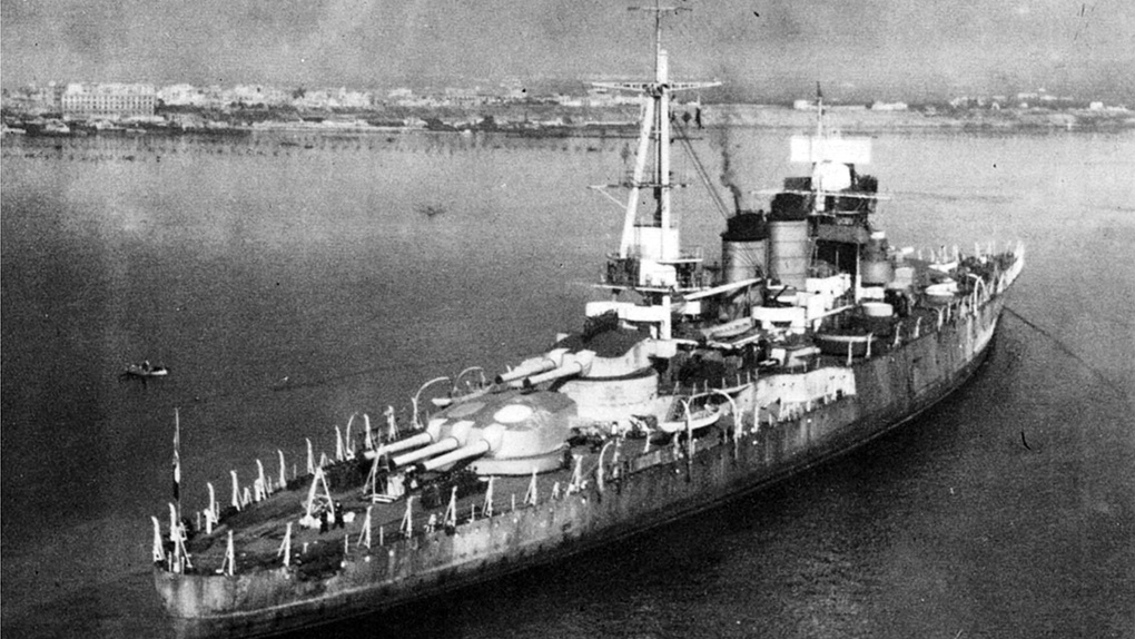 Линкор «Джулио Чезаре» перед передачей СССР.