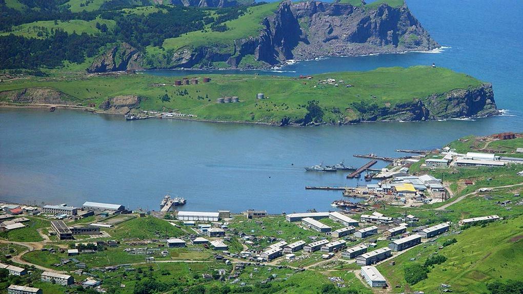 Село Малокурильское на острове Шикотан.
