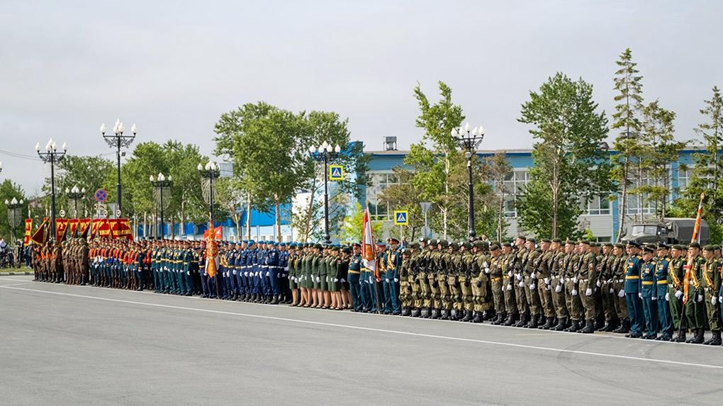 Войска на параде.