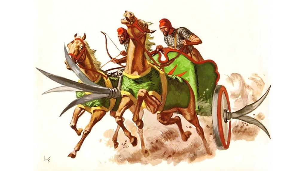 Боевая серпоносная колесница.