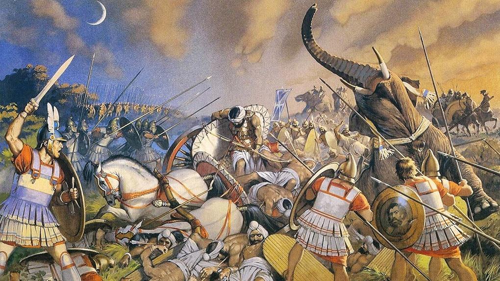 Битва Александра с Пором при Гидаспе.