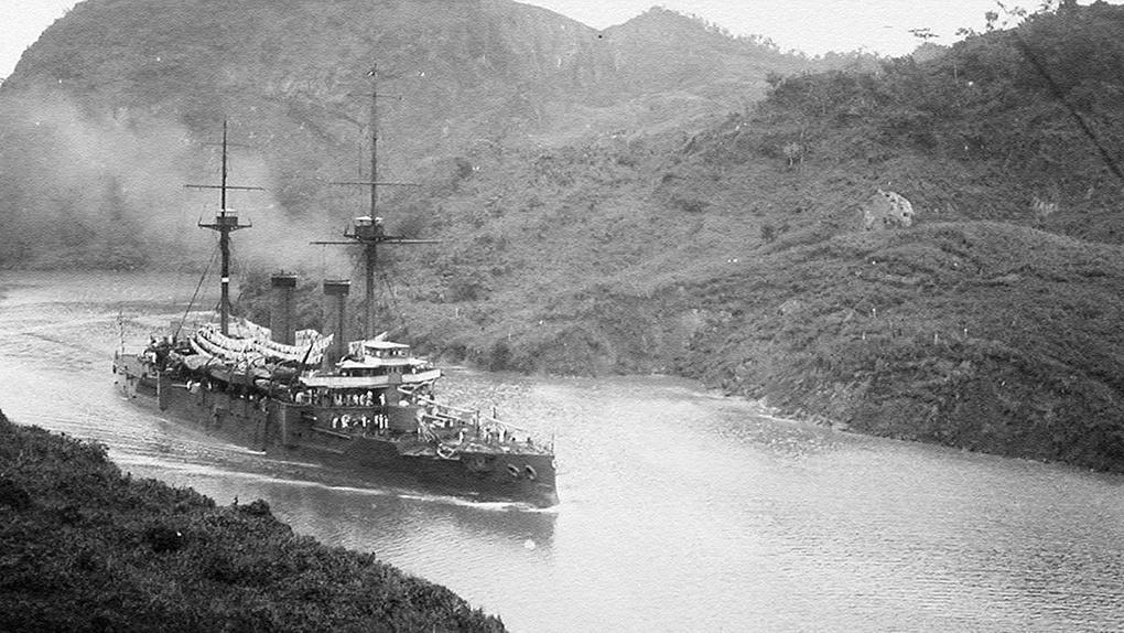 Японский броненосный крейсер «Асама».