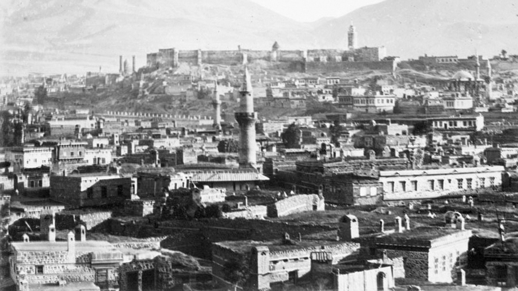 Вид на город Эрзурум в начале XX века.