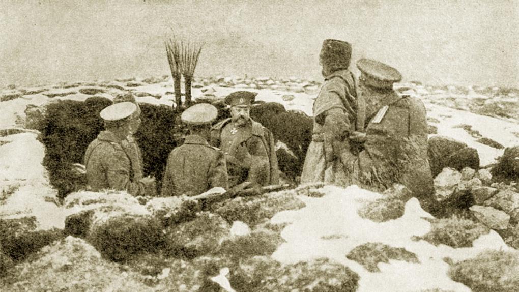Н.Н.Юденич на поле боя.