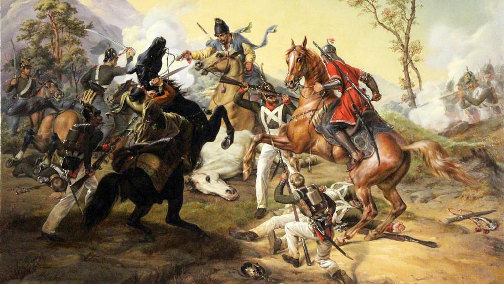 Эпизод битвы русско-турецкой войны 30 мая 1829 года при Кулевче.