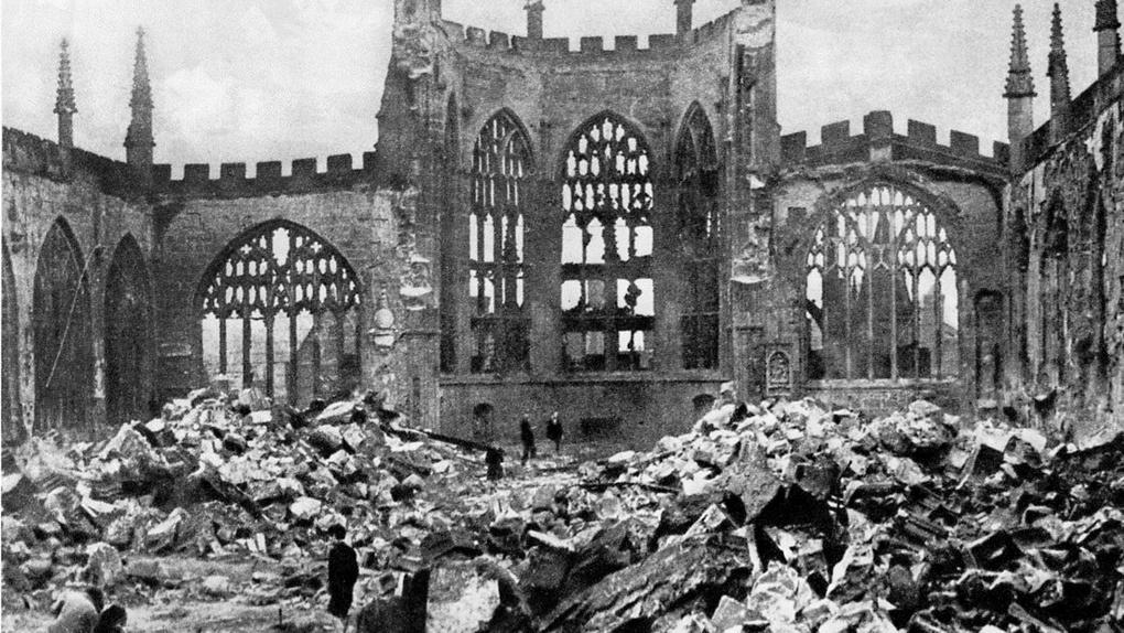 Разрушенный собор св. Михаила в Ковентри.