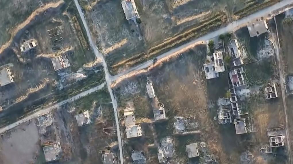 Район патрулирования «Ланцета-3» в Сирии.
