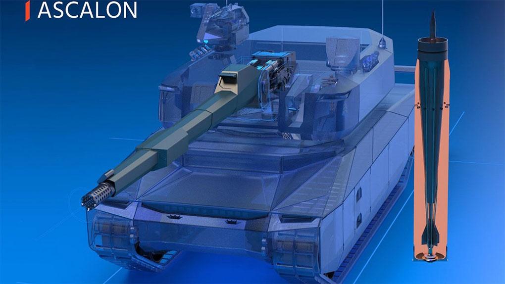 Концептуальные изображения перспективной французской танковой пушки ASCALON вероятного калибра 140 мм.