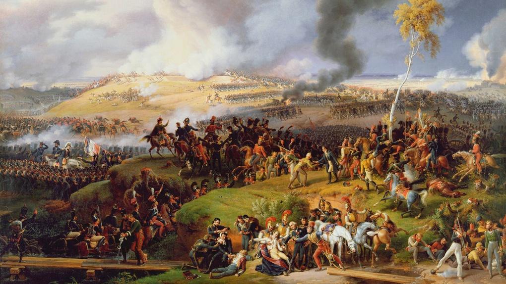 Бородинское сражение - битва у Москвы-реки 7.09.1812 Луи-Франсуа Лежена.