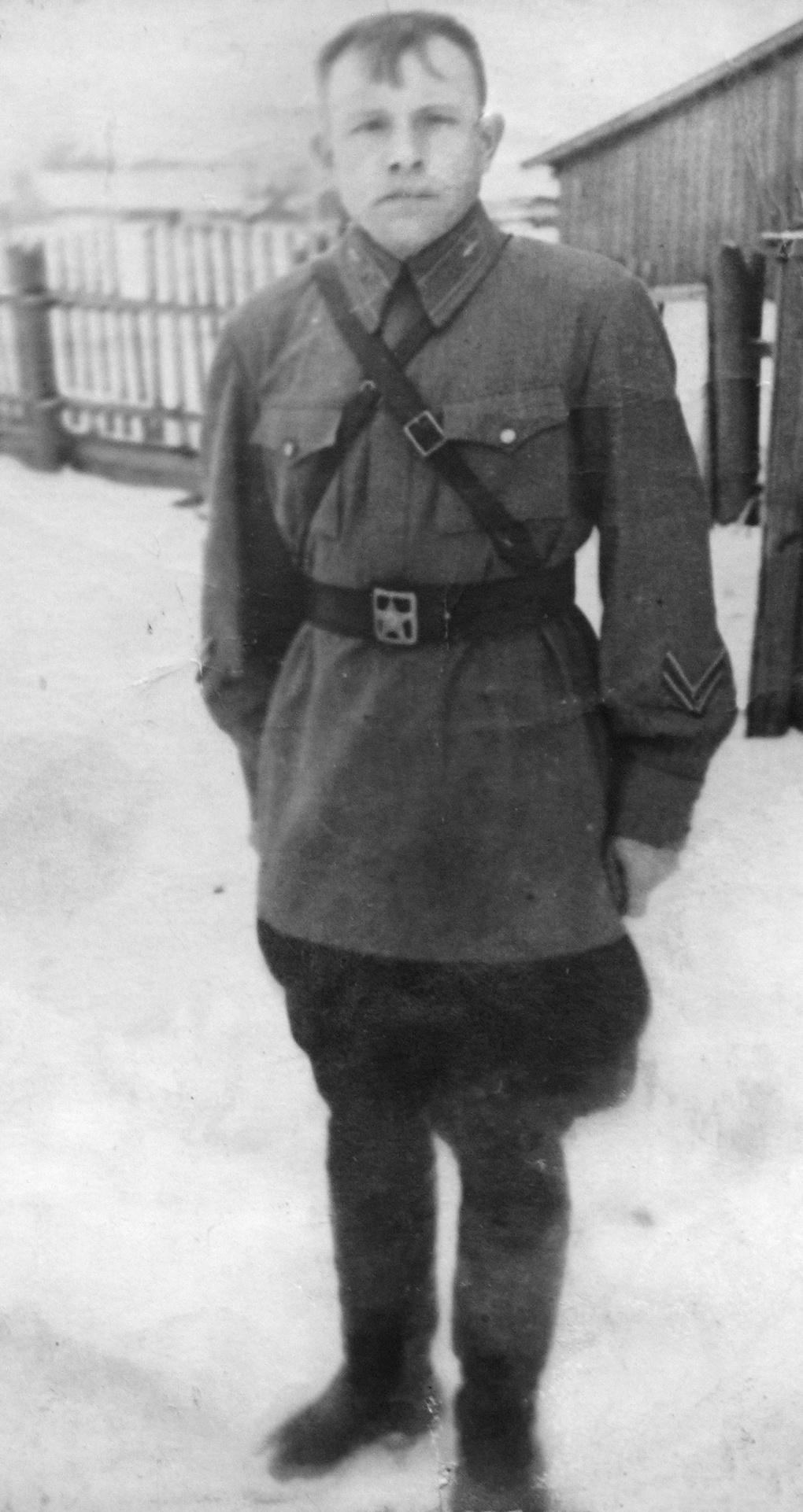 Алексей Баукин - зима 1942 г.