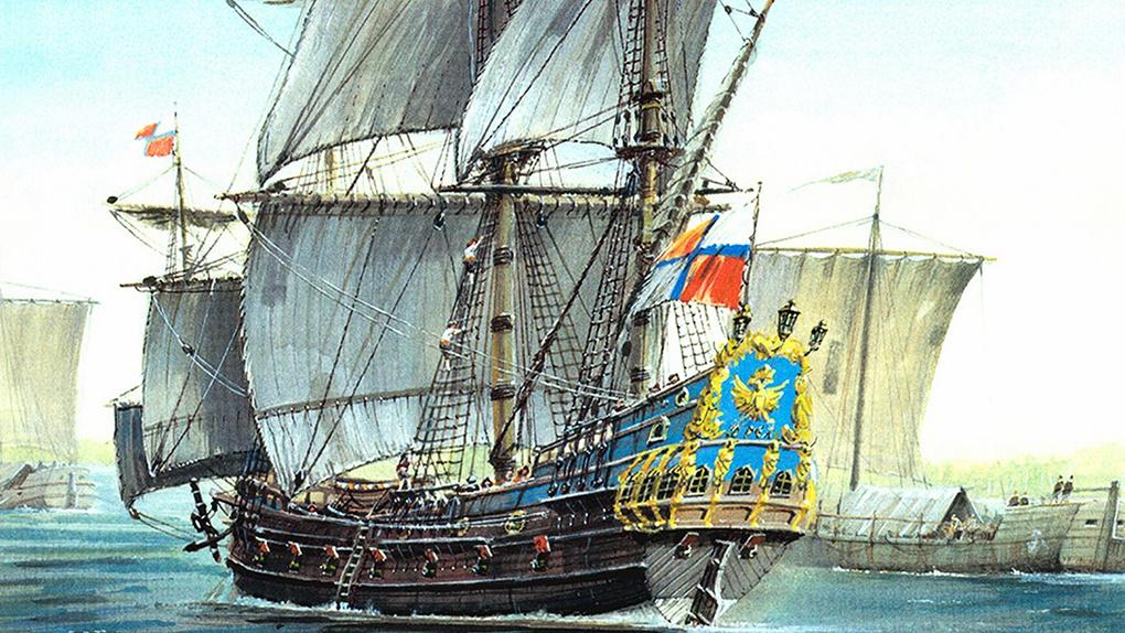 Первый русский фрегат «Орёл».