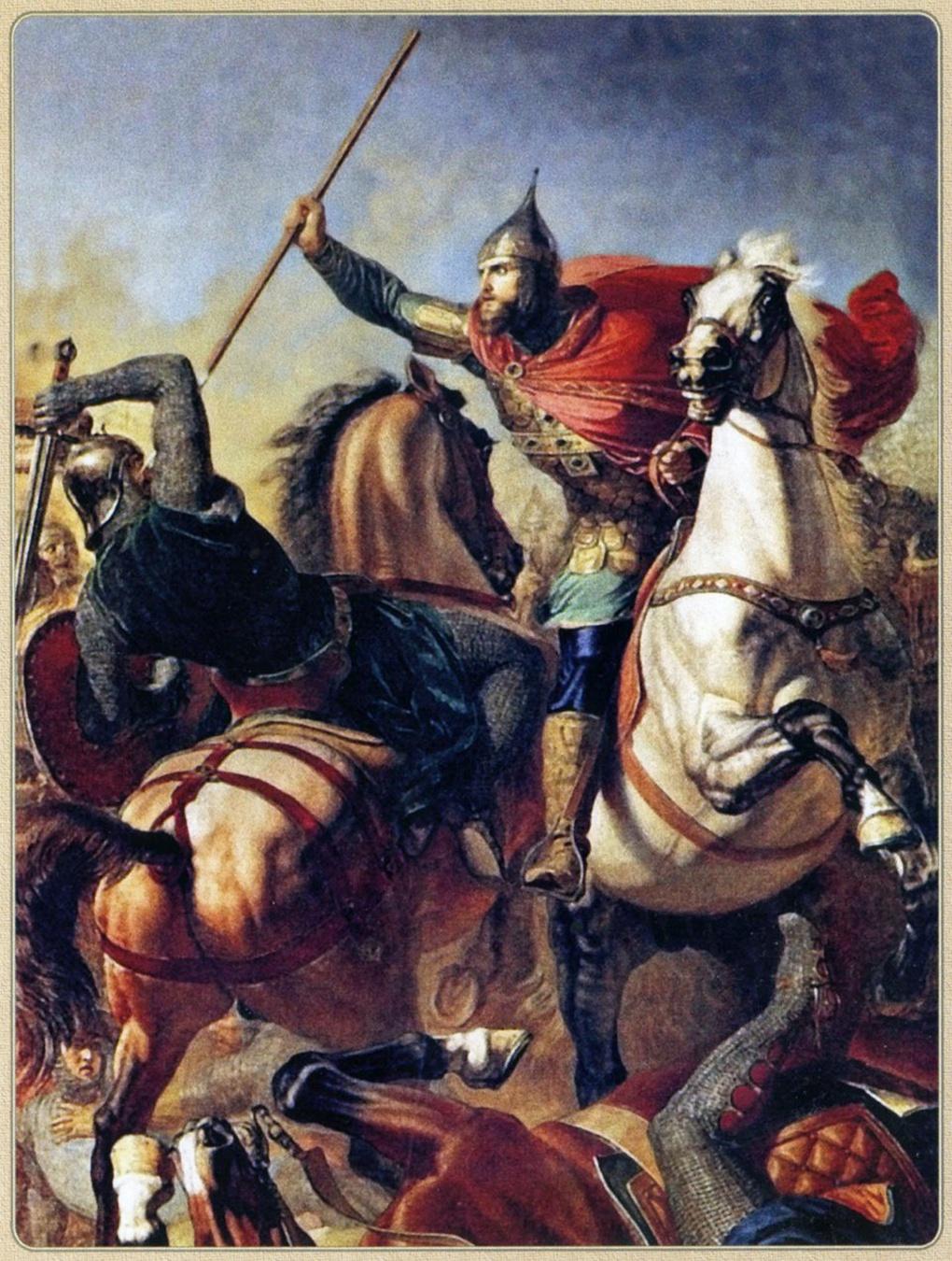 Картина Ф. Моллера «Поединок Александра с Биргером».