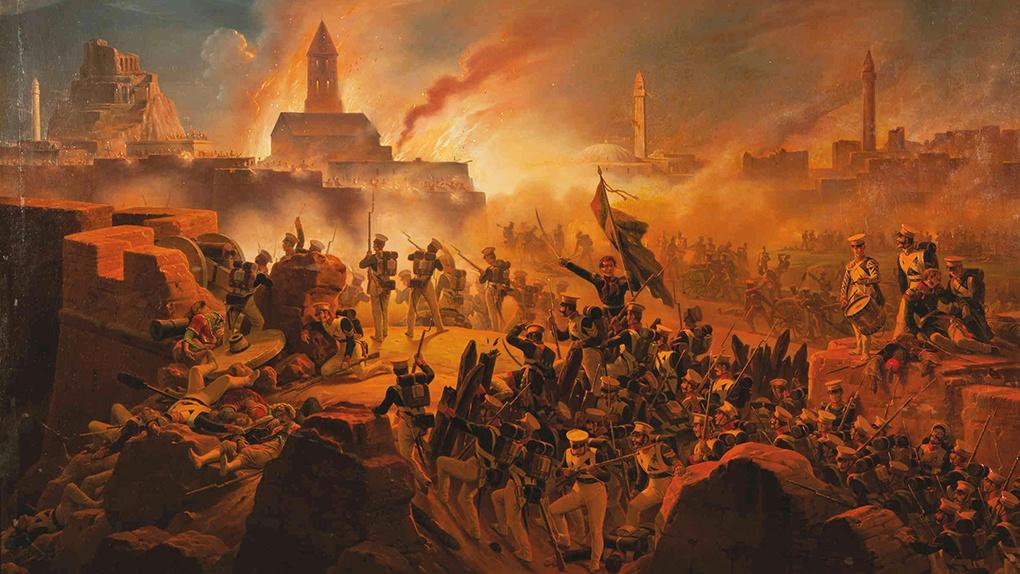 Штурм крепости Ахалцых 15 августа 1828 года.
