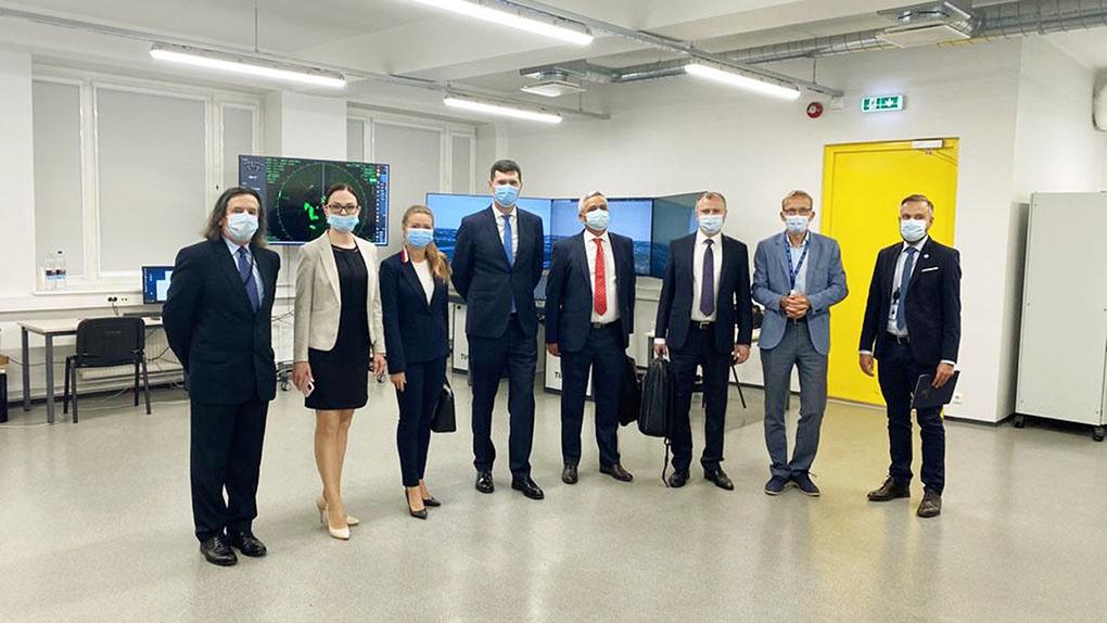 Делегация Национального координационного центра кибербезопасности во время встречи с представителями CCDCOE в Таллине.