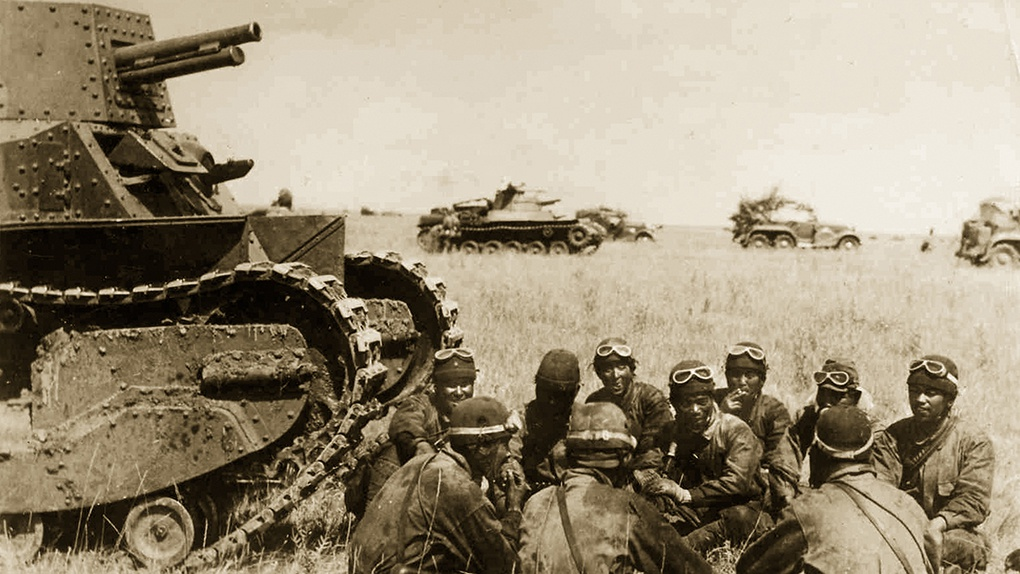 Японские танкисты у Халхин-гола.