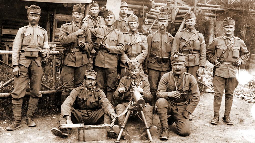Солдаты Австро-Венгерской армии.