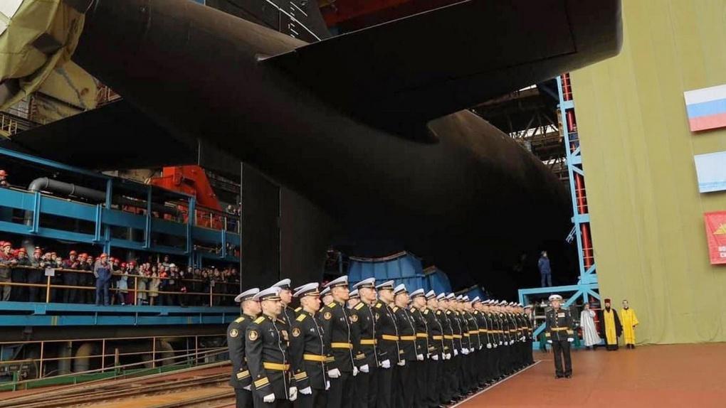 Церемония спуска на воду АПЛ «Северодвинск».
