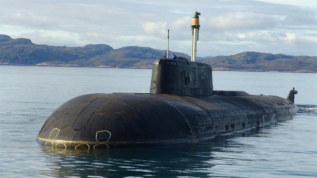 Атомная подводная лодка проекта 949А с крылатыми ракетами.