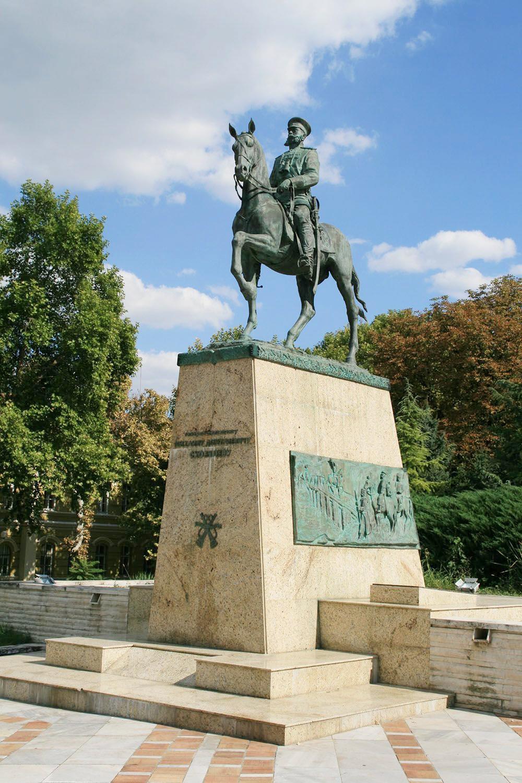 Памятник генералу Скобелеву в Плевне.