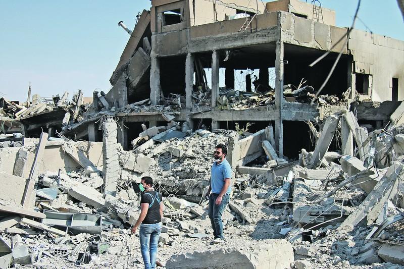 На развалинах учебного центра