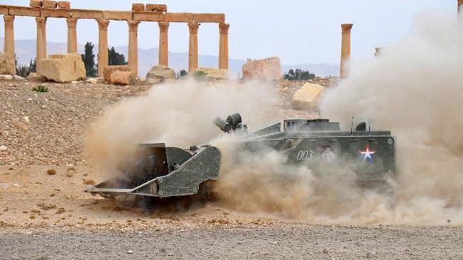 Робот-сапер «Уран-6» в Сирии.