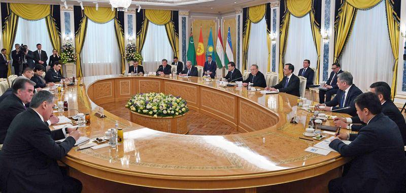 Саммит глав пяти стран Центральной Азии в Астане.
