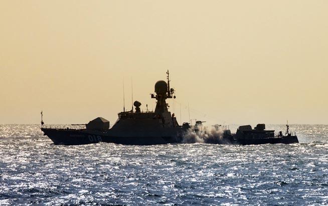 Корабль Каспийской флотилии.