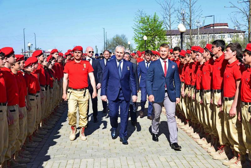 Торжественное посвящение в юнармейцы в Чеченской республике.