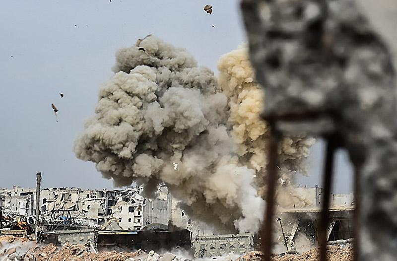 Бой в Сирии.