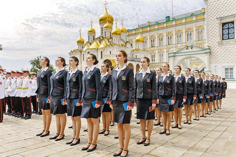 Выпускницы Пансиона воспитанниц Минобороны РФ.