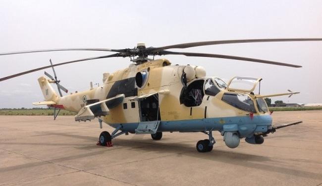 Российский вертолет Ми-35м ВВС Нигерии.