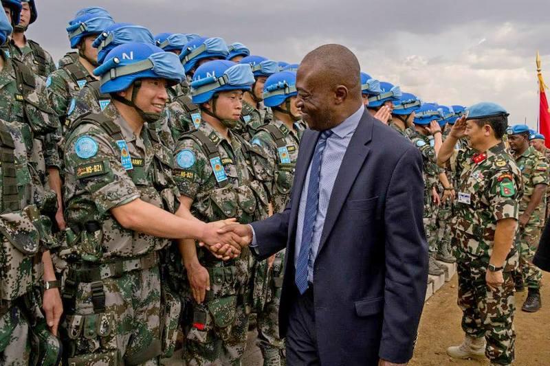 Китайские миротворцы в Африке.