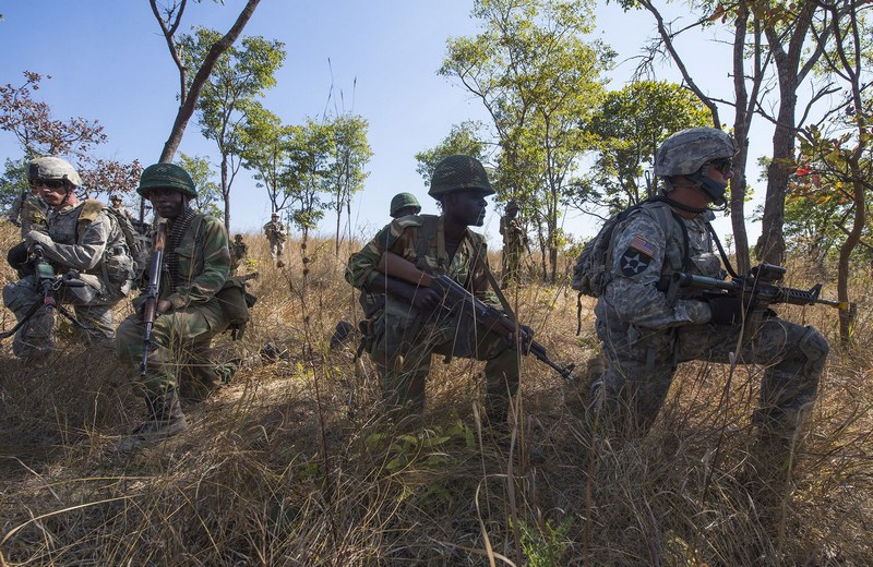 Спецназ армии США в Замбии.