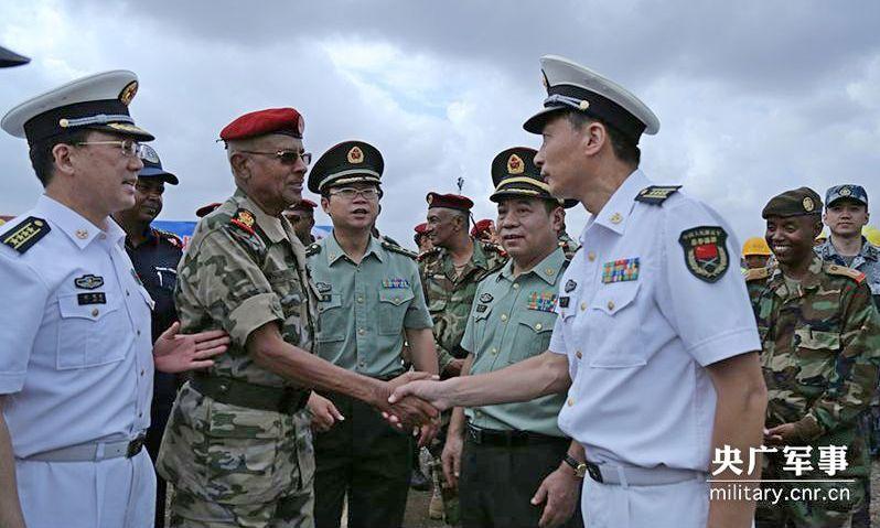 Открытие военно-морской базы КНР в Джибути в 2017 году.